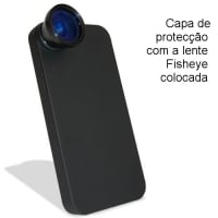 Lente Fisheye para iPhone 4/4S e 5
