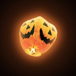 Balão Voador Abóbora Halloween (Pack 5) (Entrega em 24h)