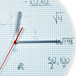 Relógio Quiz Matemática