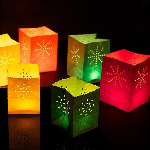 Bolsas de colores para velas pack de 12 entregas r pidas insania - Farolillos para velas ...
