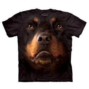 T-Shirt Face Rottweiler (Entrega em 24h)
