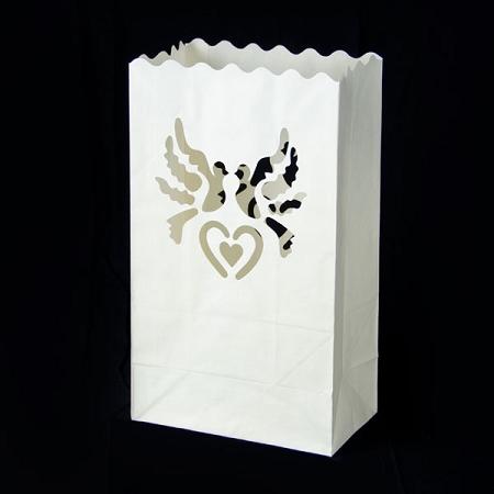 Bolsas para velas palomas y corazones entregas r pidas - Bolsas de papel para velas ...
