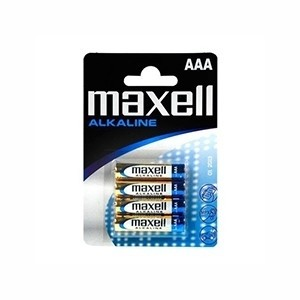 Pilhas Alcalinas Maxell AAA (Pack 4) (Entrega em 24h)
