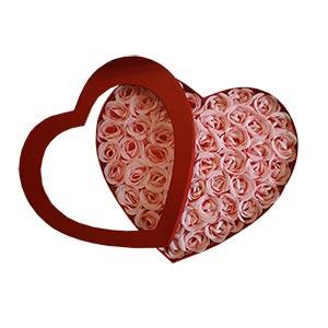 Coração Sabonetes Pétalas de Rosa (Pack 50) (Entrega em 24h)