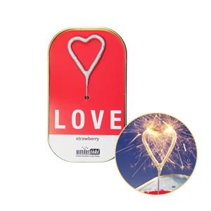 Bolo em Lata Sparkler Coração - Love (Entrega em 24h)