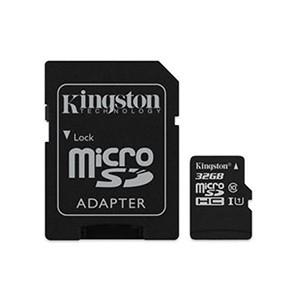 Cartão Kingston Micro SD C/ Adaptador SD 32GB (Entrega em 24h)