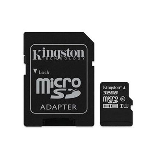 Cartão Kingston Micro SD C/ Adaptador SD 32GB