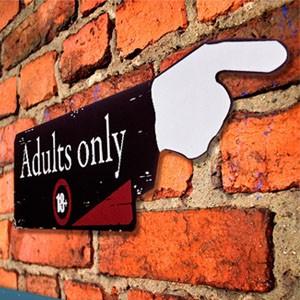 Placa de Madeira Adults Only 18 (Entrega em 24h)