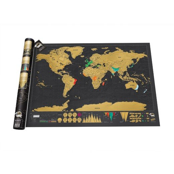 Mapa Mundo Raspadinha Deluxe