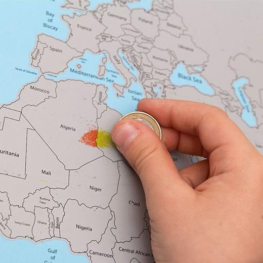 Mapa-múndi Raspadinha Low Cost