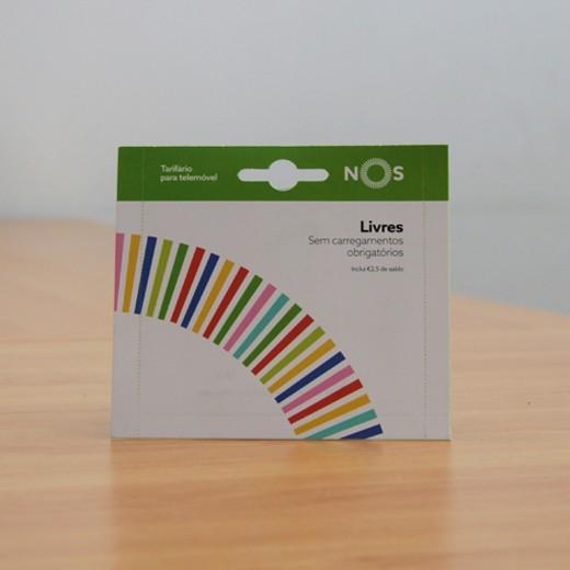 Cartão SIM NOS com saldo € 2,50