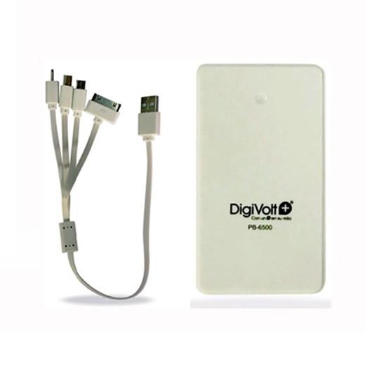 Carregador Portátil Powerbank DigiVolt+ 6500mAh