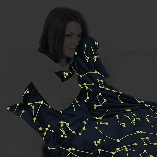 Manta com Mangas Kanguru Glow Constelações