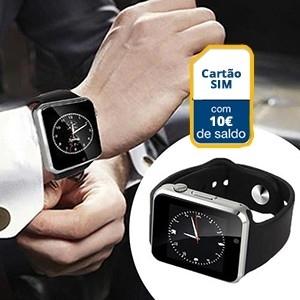 Smartwatch c/ Câmara Android e IOS GSM S1 c/ 10 euros em Saldo (Entrega em 24h)