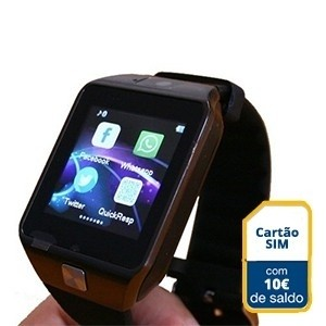 Smartwatch c/ Câmara e GSM Android e iOS c/ 10 euros em Saldo (Entrega em 24h)