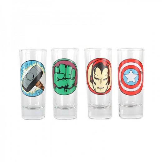 Conjunto de Shots Super-heróis