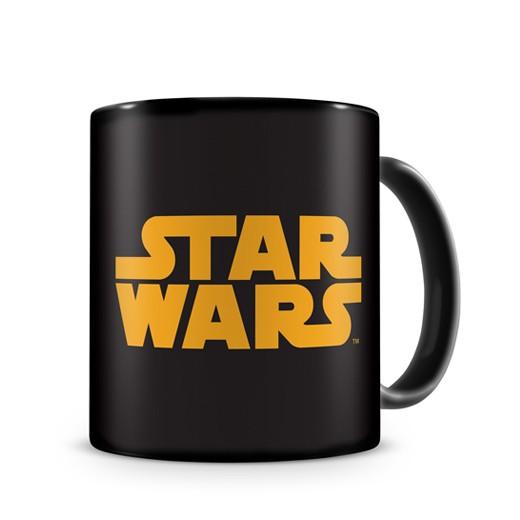Caneca Preta Logo Laranja Star Wars