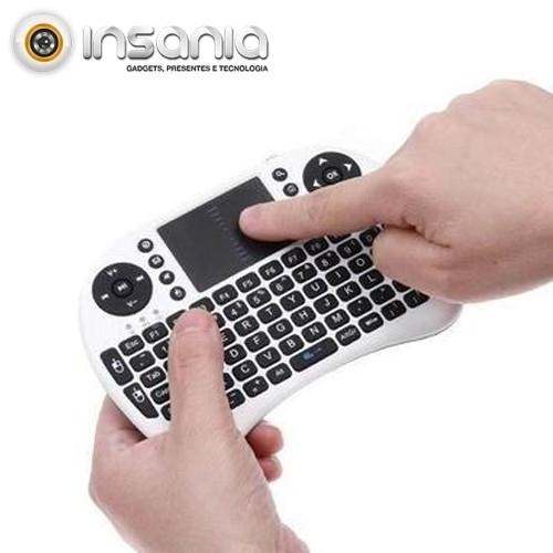 Mini Teclado Sem Fios Touchpad PC e Android