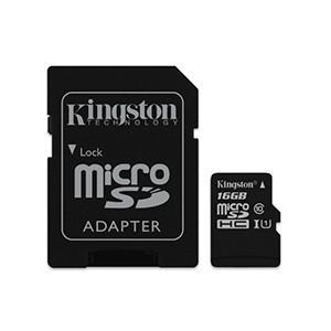 Cartão Kingston Micro SD C/ Adaptador SD 16GB (Entrega em 24h)