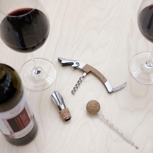Conjunto de Vino de corcho (3 piezas)