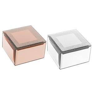 Caixa Porta-jóias de Vidro Espelhado (Entrega em 24h)