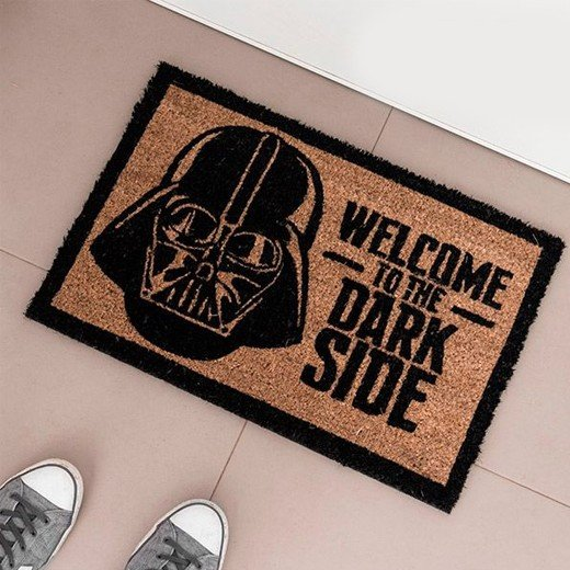 Tapete welcome to the dark side star wars portes for Tapete star wars