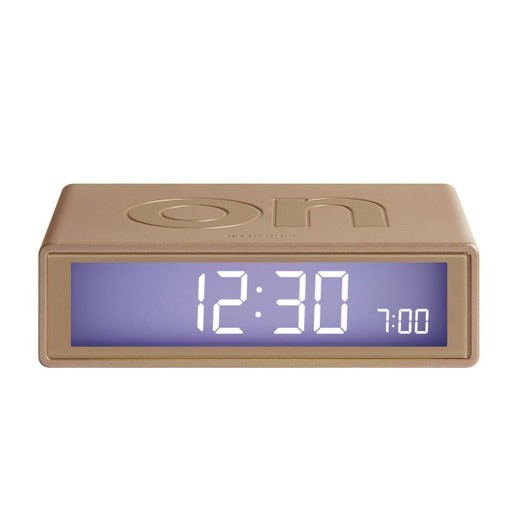 Relógio Despertador Dupla Face Dourado