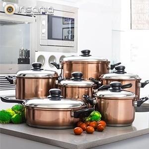 Conjunto de Panelas de Cozinha Cook D\'Lux (12 Peças)