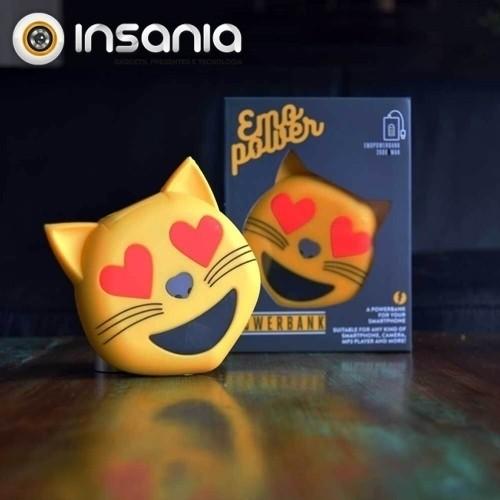 Powerbank Emoticon Gato Corações
