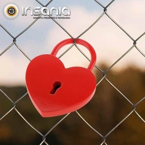Cadeado com Chave Coração