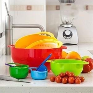 Utensílios de Cozinha Coloridos (8 peças) (Entrega em 24h)