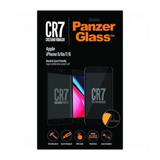 Película Panzerglass CR7 para iPhone 8/7/6S/6 Preto