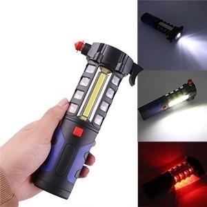 Lanterna LED 5 em 1 c/ Martelo de Segurança para Carro (Entrega em 24h)