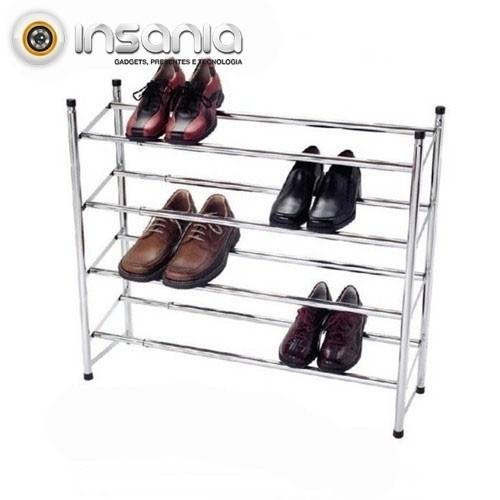 Organizador de Sapatos Extensível de 4 Patamares