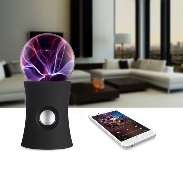 Coluna Bluetooth Bola de Plasma