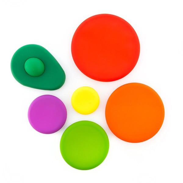Tampas de Silicone para Alimentos (6 peças)