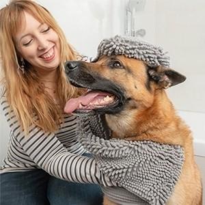 Toalha Ultra-absorvente para Animais de Estimação (Entrega em 24h)
