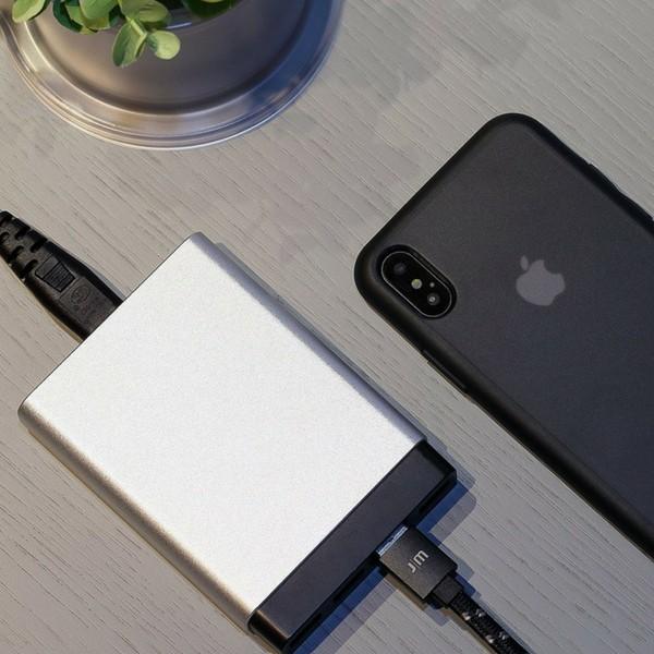 Cabo USB-Lightning Flat JustMobile AluCable Preto