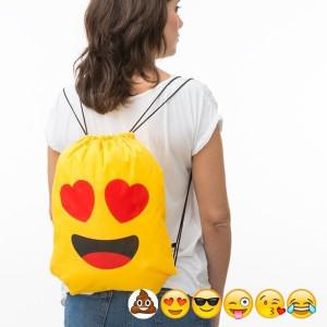Bolsa Mochila com Cordas Emoticons (Entrega em 24h)