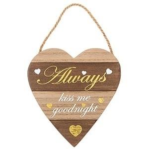 Placa de Madeira Letras Douradas Always (Entrega em 24h)
